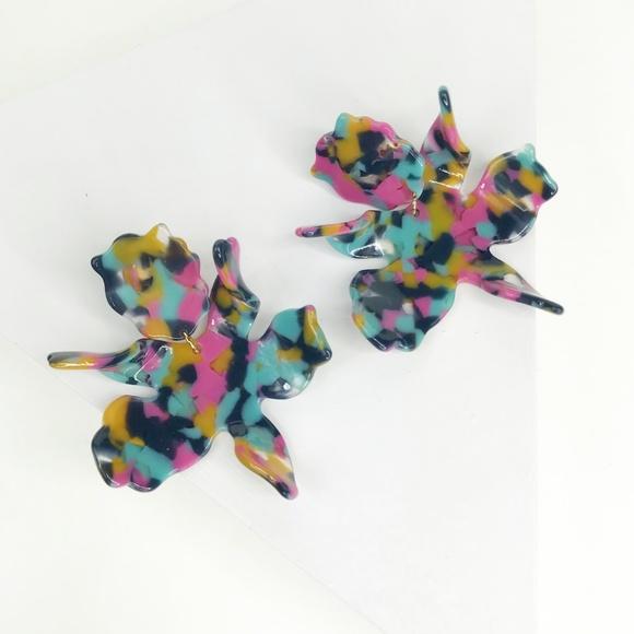 LELE SADOUGHI | Paper Lily Earrings Jungle Punch